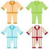 Пижамы значка иллюстрация штока
