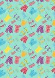 Пижамы прачечной с голубой предпосылкой иллюстрация вектора