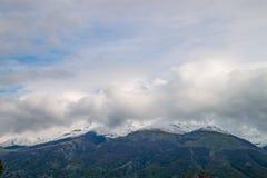 Пики балканских гор snowcapped Стоковое фото RF