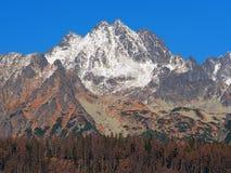 Пики высокого Tatras в осени Стоковое Изображение RF