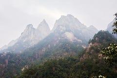 Пики в облаке и тумане Стоковые Изображения RF