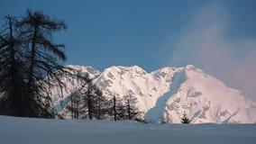 Пики гор в whinter Стоковая Фотография RF