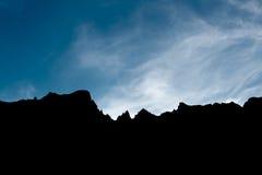 Пики гор тролля в Норвегии Стоковое Изображение