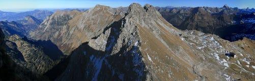 Пики гор Стоковые Изображения