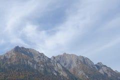 Пики гор Bucegi в осени Стоковые Фото