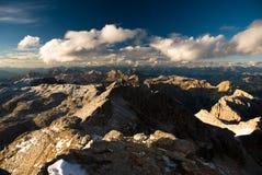 пики доломита Стоковая Фотография RF