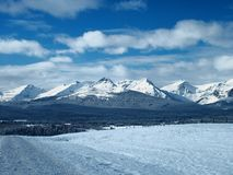 Пики зимы Монтаны Стоковые Изображения RF