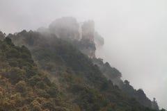 Пики на Zhangjiajie Стоковые Изображения RF