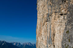 Пики доломита, горы и голубой горизонт в Itally Стоковая Фотография