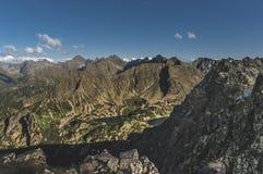 Пики панорамы высокого Tatras Стоковые Изображения RF
