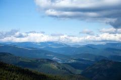 Пики прикарпатских гор Стоковое Изображение RF