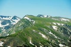 Пики утесистых гор Стоковые Фото