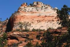 Пики Юты, США Сиона приданные куполообразную форму национальным парком стоковые фото