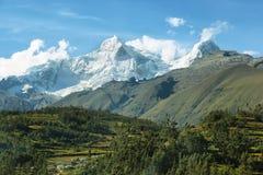 Пики Huandoy, Перу Стоковые Изображения RF