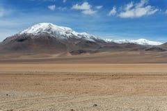 Пики Snowy в кордильерах de los Андах Стоковые Изображения RF