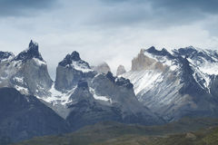 Пики Torres del Paine Чили диаграмма иллюстрация южные 3 3d америки красивейшая габаритная очень Стоковые Фотографии RF