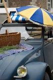 Пикник выходных автомобилем Стоковое Изображение