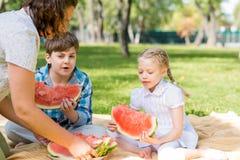 Пикник в парке Стоковое фото RF