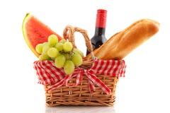 пикник еды корзины Стоковые Фотографии RF
