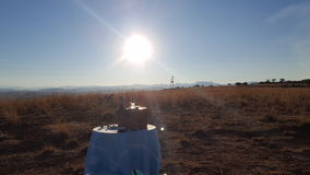 Пикник захода солнца Стоковое фото RF