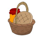 пикник корзины иллюстрация штока