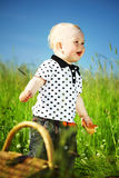пикник мальчика Стоковое Изображение