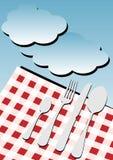 пикник меню карточки предпосылки бесплатная иллюстрация
