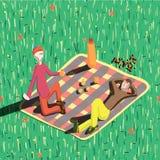 Пикник падения бесплатная иллюстрация