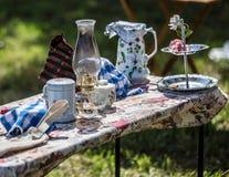Пикник периода гражданской войны Стоковое Изображение
