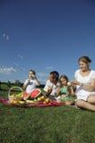 пикник семей Стоковые Фото