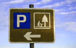 пикник стоянкы автомобилей Стоковая Фотография RF