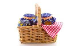 пикник тросточки корзины злой Стоковая Фотография RF
