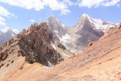 Пиковая энергия и Chimtarga Вентиляторы, Таджикистан стоковое фото