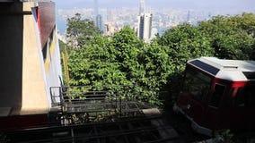 Пиковый трамвай Гонконг сток-видео