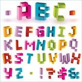 пиксел алфавита яркий Стоковые Фото