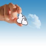 пиксел иконы облака вычисляя Стоковое Изображение RF
