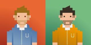 пиксел людей Стоковые Изображения RF