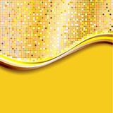 пиксел предпосылки золотистый Стоковые Изображения
