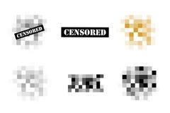 Пиксел цензировал знаки бесплатная иллюстрация