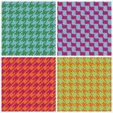пиксел houndstooth brights ретро Стоковые Фотографии RF