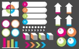 Пиксел infographics1 Стоковые Фото