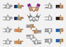 Пиксел вектора руки Стоковое Фото