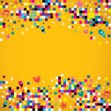 Пиксел потехи придает квадратную форму предпосылке иллюстрация штока