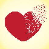Пиксел сердца Стоковое Изображение