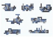 Пиксел транспорта иллюстрация вектора