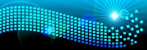 Пикселы космоса цифров заголовка знамени Стоковые Фотографии RF