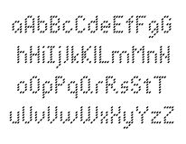 Пикселы оформления алфавита Стоковые Фотографии RF