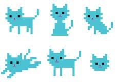 Пиксел catty Стоковое Изображение RF