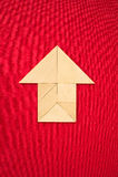 Пиктограмма дома или стрелки показывая направление Стоковые Фотографии RF