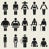 Пиктограмма символа знака значка людей лета Стоковые Изображения RF